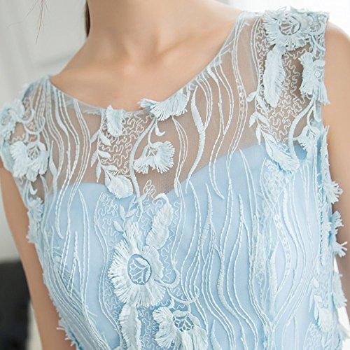 Drasawee Élégantes Robes De Soirée Cocktail De Robe De Soirée De Bal En Dentelle Courte Pour Les Filles De L'adolescence Bleu Clair
