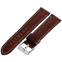 Hadley-Roma Men's MSM906RB-220 22mm Brown Genuine Leather Watch Strap