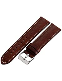 Hadley-Roma Men's MSM906RB-220 22mm Brown Genuine Leather Watch Strap