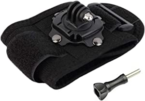 Walway Adjustable 360 Degree Rotation Wrist Strap Mount with Screw for GoPro Hero 8/7/ 6/5/ 5 Session/ 4 Session/ 4, DJI OSMO Action, Xiaoyi, AKASO and Other Action Cameras