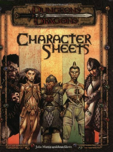 D&D Character Record Sheets 3E: Dungeons & Dragons Accessory by Wizards Team (August 01,2000)