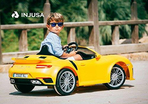 Carro Coche Carrito Montable Eléctrico Niño Niños Porsche 6V Amarillo