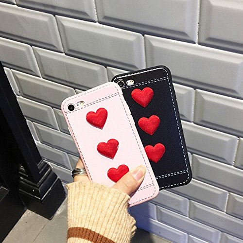 Phone Taschen & Schalen Für iPhone 6 Plus / 6s Plus, Red Heart Full Coverage Schutzmaßnahmen zurück Fall Fall ( Color : Pink )