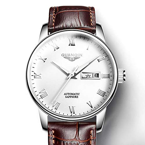 - Mens Watches Genuine Leather Band Date Calendar Waterproof Wrist Watch Men Casual Business Dress Watch Luxury Fashion Simple Quartz Wrist Watches for Men