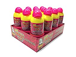 Lucas Crazy Hair Sour Strawberry Twist Fruit Candy, 12-pack
