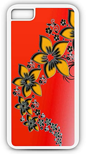 iPhone 8 Plus 8+ Case Rising Flower Pattern Computer Generated Background Customizable by TYD Designs in White Plastic (Dead Computer Rising)