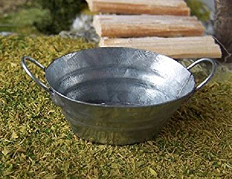 Vasca Da Bagno In Lamiera Zincata : Ovale in miniatura della vasca in lamiera zincata 3 5 x 2 8 x 1 7
