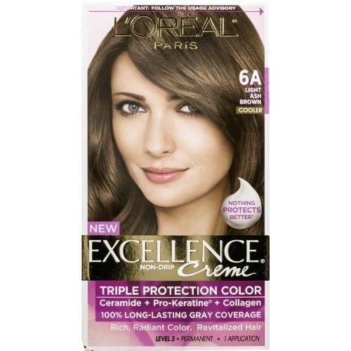 - L'Oreal Paris Excellence Creme Triple Protection Color 6A Light Ash Brown/Cooler