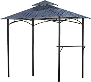 Garden Winds Replacement Canopy for Mainstays Grill Shelter Gazebo - Standard 350 - Midnight Trellis