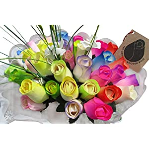 The Original Wooden Rose Spring Easter Flower Bouquet Closed Bud (3 Dozen)