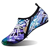 Barerun Summer Outdoor Water Shoes Aqua Sports Socks Classic Barefoot Walking Shoes Purple Women Size 7.5-8.5 Men Size 6-7