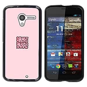Be Good Phone Accessory // Dura Cáscara cubierta Protectora Caso Carcasa Funda de Protección para Motorola Moto X 1 1st GEN I XT1058 XT1053 XT1052 XT1056 XT1060 XT1055 // pink Cloud