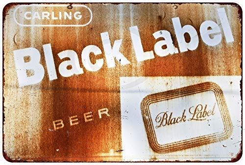 Joeaney New Tin Sign Aluminum Retro Rusty Carling Black Label Beer Vintage Metal Sign 8 X 12 Inch