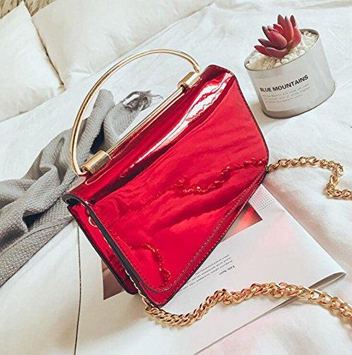 Aoligei Laser lumineux petit sac épaule oblique sac à main fashion chaîne petit côté C