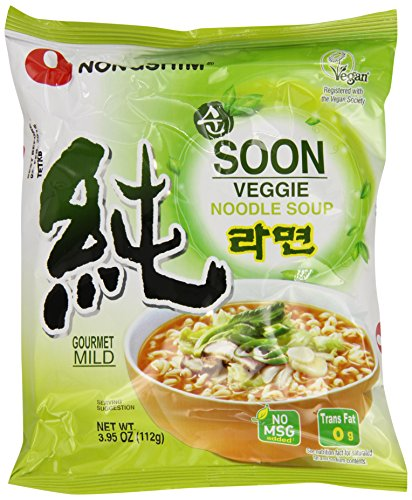 NongShim Soon Veggie Noodle Soup, 3.95 Ounce (Pack of 20)