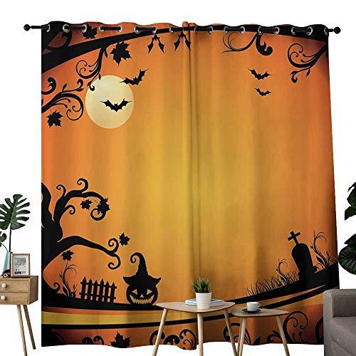 curtains 63 inch length Vintage Halloween,Halloween Themed Image