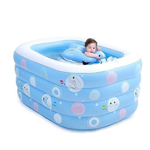 TYUIO Bañera Inflable para bebés, Mini Piscina de Gran Capacidad ...
