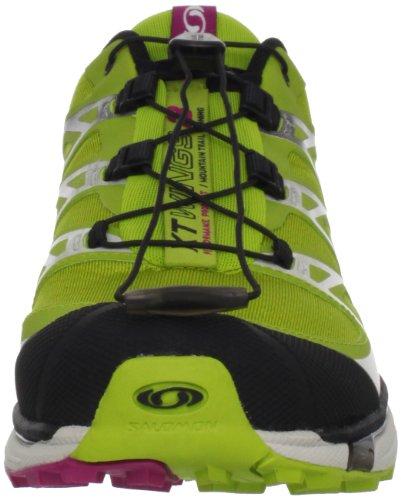 Salomon Womens XT Wings 3 Trail Running Shoe,Green/Black/Fancy Pink,5 M US (japan import)