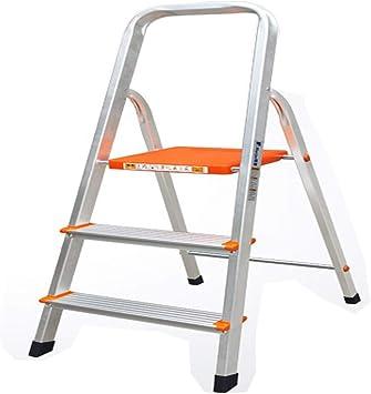 LINrxl Escalera de 3 peldaños Escalera de Mano Plegable/Escalera de Aluminio Escalera de Taburete Escalera de Plataforma Plegable Taburete de 330 lbs Capacidad de Carga Liviana Escalera Multiusos co: Amazon.es: Hogar