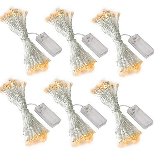Steelers Ceiling Fan Decor - Mikash 6 Pack 10ft/3m 30 LEDs Mini Bulb Battery Operated Fairy String Lights, Super Bright Starry Light for Gift Wedding Party Bedroom Home tion Crafts (UL Certified, Warm White) | | Model WDDNG - 142