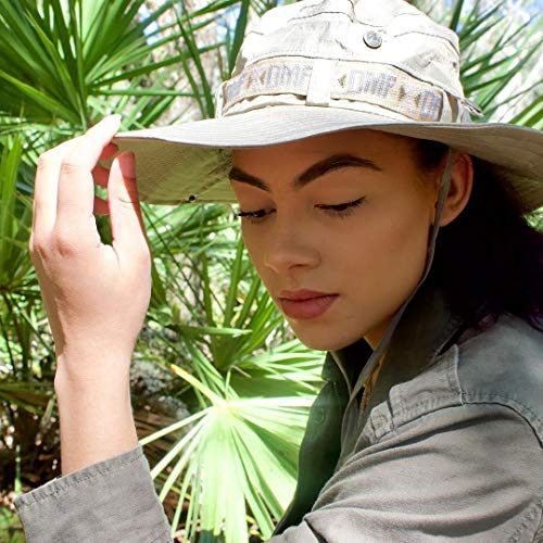 AIKI Fishing Sun Boonie Hat Waterproof Summer UV Protection Safari Cap Outdoor Hunting Hat