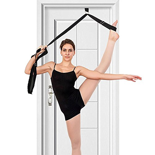 Leg Rose red Ballet Improve Band Training Skating Strap ZZM Flexibility strap Stretcher Women Bands Stretch Ice Resistance Stretcher Dance for Leg Foot Cheerleader Girl Gymnastics qSIwCgwxd