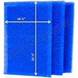MicroPower Guard Replacement Filter Pads 18x26 Refills (3 Pack) BLUE