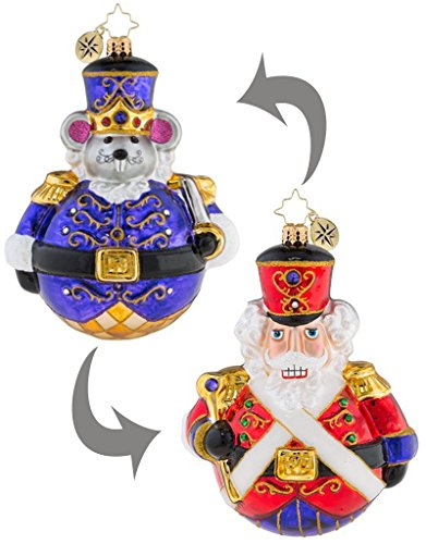 Christopher Radko Ornament Dual Sided Man or Mouse - Nutcracker Radko Ornaments