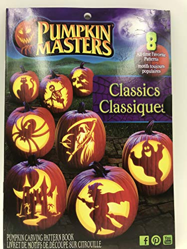 Pumpkin Carving Patterns: Pumpkin Masters Classics 2017 Edition Book, Use for Halloween, Thanksgiving, or Anytime You Have a Pumpkin That Needs Some Extreme Carving]()