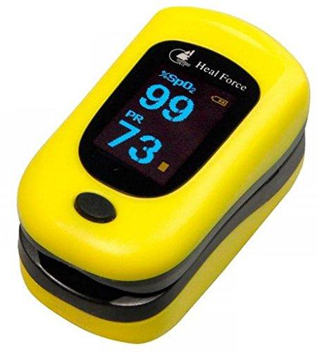 Heal Force Finger Pulse Oximeter Heart Rate Oxygen Meter ...