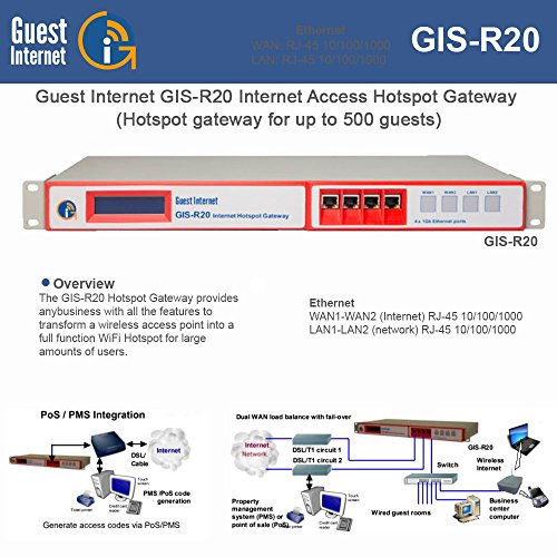 Guest Internet GIS-R20 500+ Concurrent Users Gateway ()