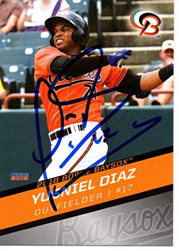 Yusniel Diaz 2018 Bowie Baysox Orioles Update Autographed Signed Card