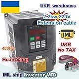 Davitu Inverters & Converters - UKR 2.2KW Variable Frequency Drive VFD Inverter 3HP 220V 1-3PH for CNC Router Spindle Motor Speed Controller - (Input Voltage: 220V-240V, Output Voltage: 220V-240V)