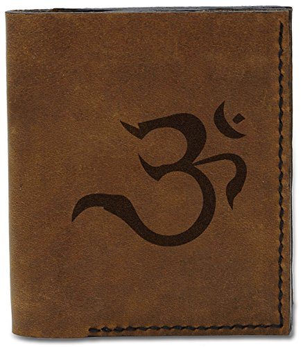 04 Genuine Buddhish Men's Buddhish Natural b Signs Om Handmade 10 Leather Signs MHLT Om Wallet qFq5zXrw