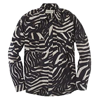 amazon co jp zebra print military shirt ジブラ柄ミリタリーシャツ