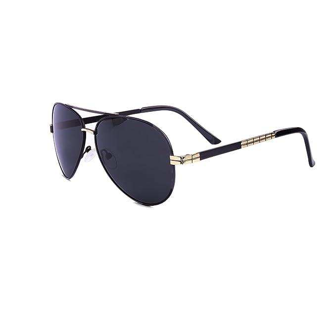 Hombre Gafas de Sol Polarizadas Aviador UV 400 Protección Gafas Ligeras con Estuche, Bolsa,