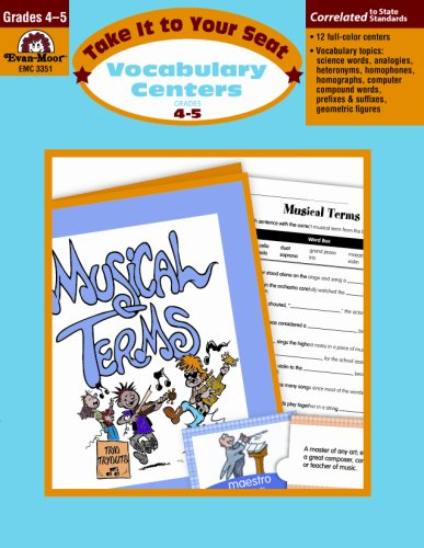 Take It to You Seat Vocabulary Centers, Grades 4-5 - Buy Online in
