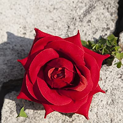 Rose Flower Hair Clips-Red Velvet Rose Hair Flower Clip and Pin Silk Rose Flower Hair Clip For Bridal Wedding Accessories