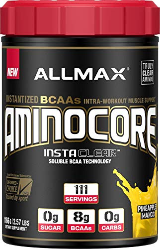 ALLMAX Nutrition Aminocore BCAAs, 100% Pure 45:30:25 Ratio, Pineapple Mango, 1166g ()