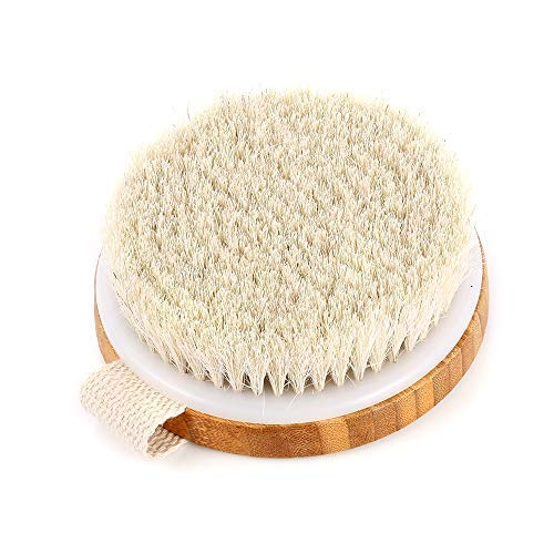 Veahom Soft Body Brush for Drying Brushing, Natural Bristle, Remove Dead Skin, Clean lymphatic system, Stimulates Blood Circulation, Dense and Soft Brush Suitable for Women and Adults Sensitive Skin