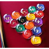 """Premium Quality, American Made, EPCO Clear-Rocco Style Billiard or Pool Set, with 4.2oz, 2.25""""diam balls"""