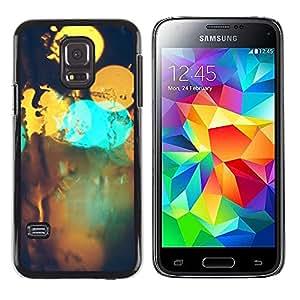 EJOY---Cubierta de la caja de protección la piel dura para el ** Samsung Galaxy S5 Mini, SM-G800 ** --Resumen Bokeh