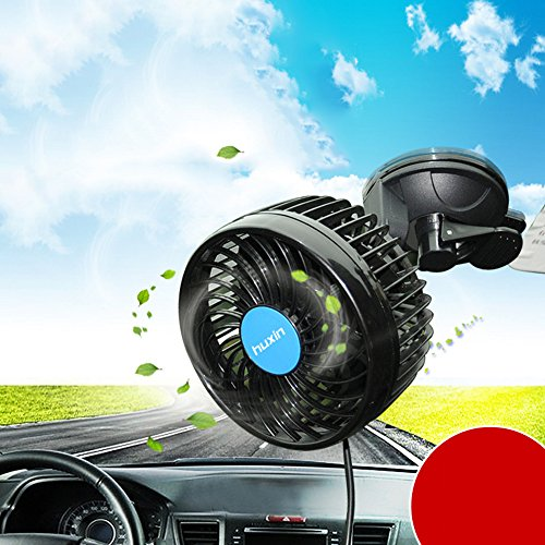 Wua 12V 6 inch Car Cooling Fan Automobile Vehicle Adjustment Suction Cup Fan Powerful Quiet Ventilation Electric Fans with Suction Cup & Cigarette Lighter Plug for Car/ Vehicle by Wuao (Image #8)