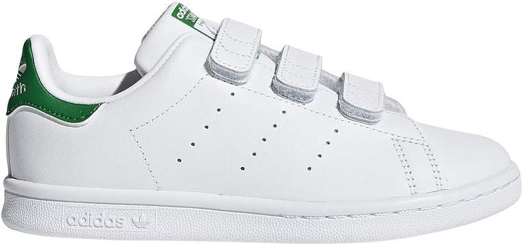 Adidas M20607 Baskets, Garçon, blancvert, taille unique
