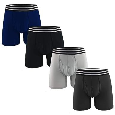 6098c35f0267e Image Unavailable. Image not available for. Color: MIZOO Men's Cotton  Classic Pouch Boxer Briefs ...