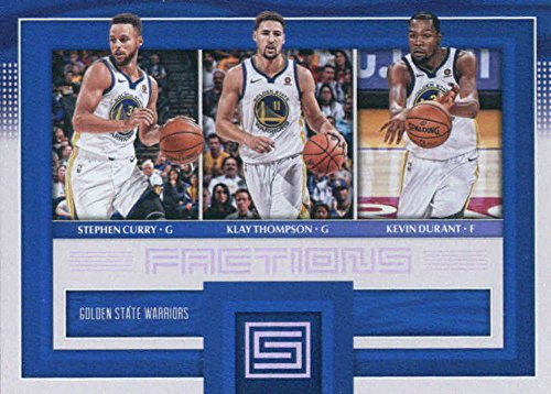 (2017-18 Panini Status Factions #10 Kevin Durant/Klay Thompson/Stephen Curry Golden State Warriors Basketball)
