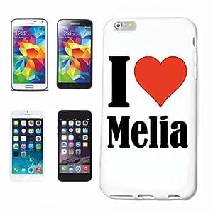 """cubierta del teléfono inteligente iPhone 5 / 5S """"I Love Melia"""" Cubierta elegante de la cubierta del caso de Shell duro de protección para el teléfono celular Apple iPhone … en blanco ... delgado y hermoso, ese es nuestro hardcase. El caso se fija con un clic en su teléfono inteligente"""