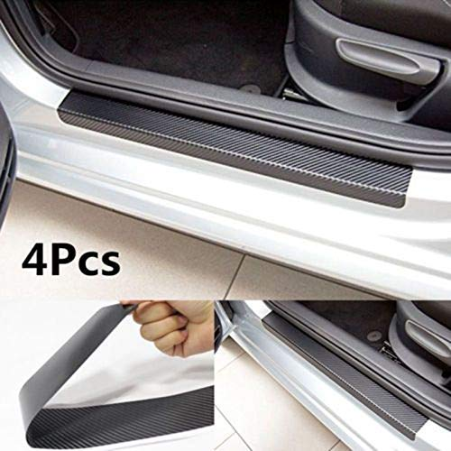 Interior Accessories Longzhimei Car Door Sill Protector for Nissan Versa Sentra Altima Maxima Door Entry Guard Welcome Pedal Threshold 4D Carbon Fiber Stickers Anti-Scratch