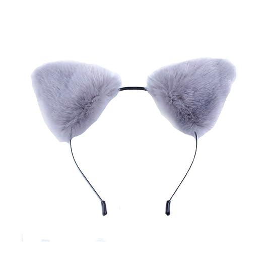 crazy night new women lady girl plush cat ears christmas halloween party fancy dress costume wolf