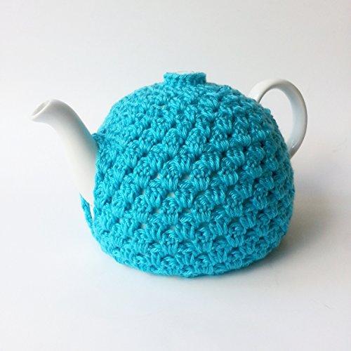 Crochet Tea Pot Cozy Turquoise